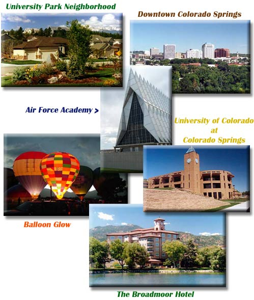 Colorado Springs neighborhoods, military installations, downtown, schools, and more!